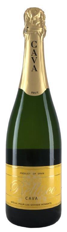 Вино игристое Кава Беллиско сухое белое з.н.м.п. регион Кава 0,75л.