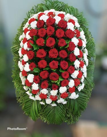 Венок из живых цветов элит ВЖ- 34