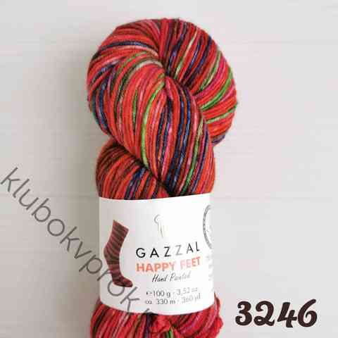GAZZAL HAPPY FEET 3246, Красный/синий/зеленый