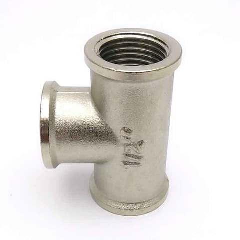 Тройник никелированный 1/2'' внутренний SD Forte