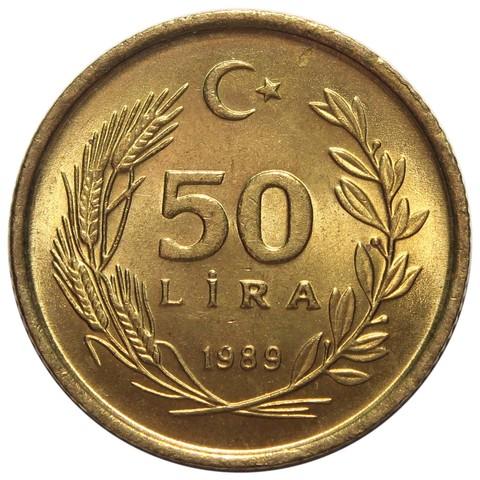 50 лир. Турция. 1988-1989 гг. UNC