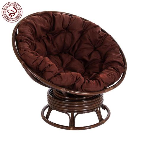 Кресло механическое PAPASAN Dark brown (подушка твил)