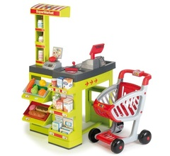 Smoby Супермаркет зеленый, с тележкой (350202)
