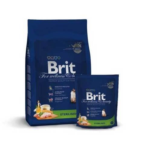 BRIT Premium Сухой корм для кастрированных кошек Sterilized