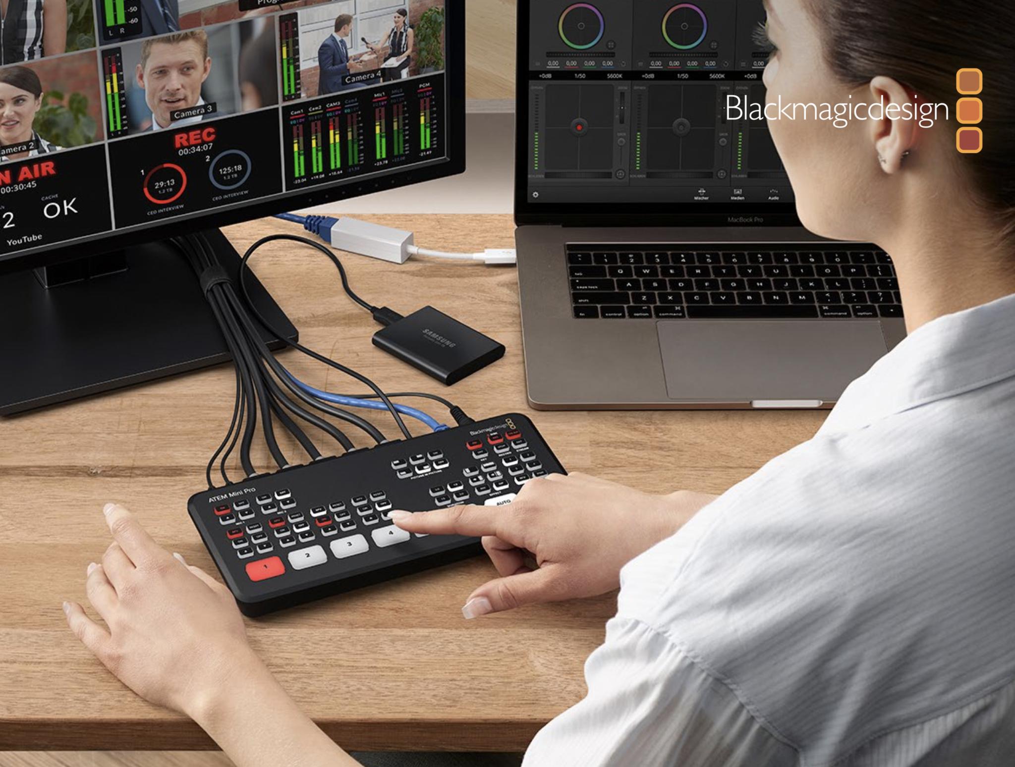 Kupit Videomiksher Blackmagic Design Atem Mini Pro Hdmi Live Stream Switcher Po Vygodnoj Cene Nobel