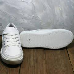 Белые женские кроссовки кеды на белой подошве Maria Sonet 274k All White