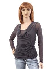 J293 кофта женская, темно-серая