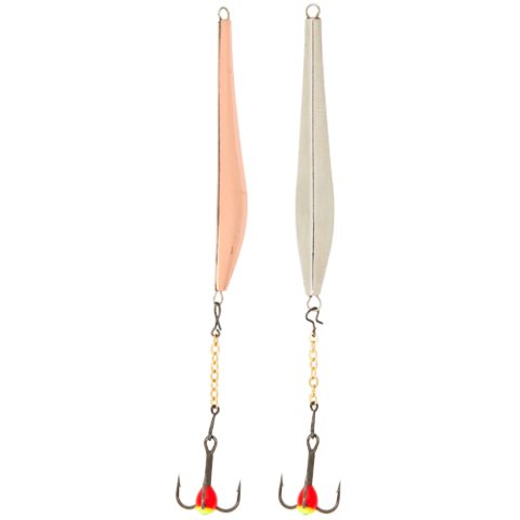 Блесна вертикальная зимняя LUCKY JOHN Double Blade (цепочка, тройник), 60 мм, CS