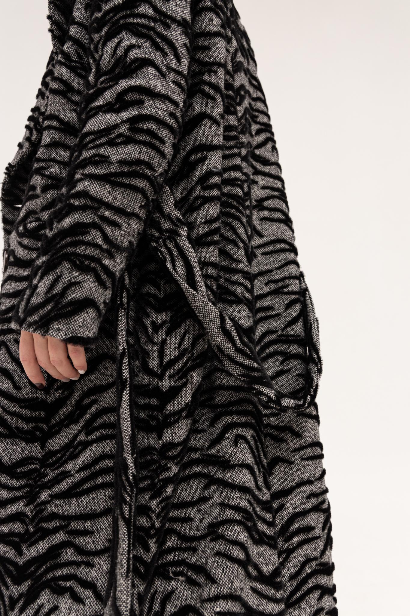Пальто из шерсти с анималистичным принтом/Полли