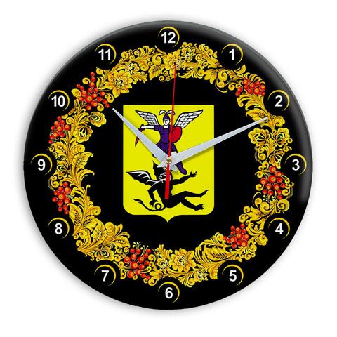 Часы в стиле Хохлома сувенирные Архангельск
