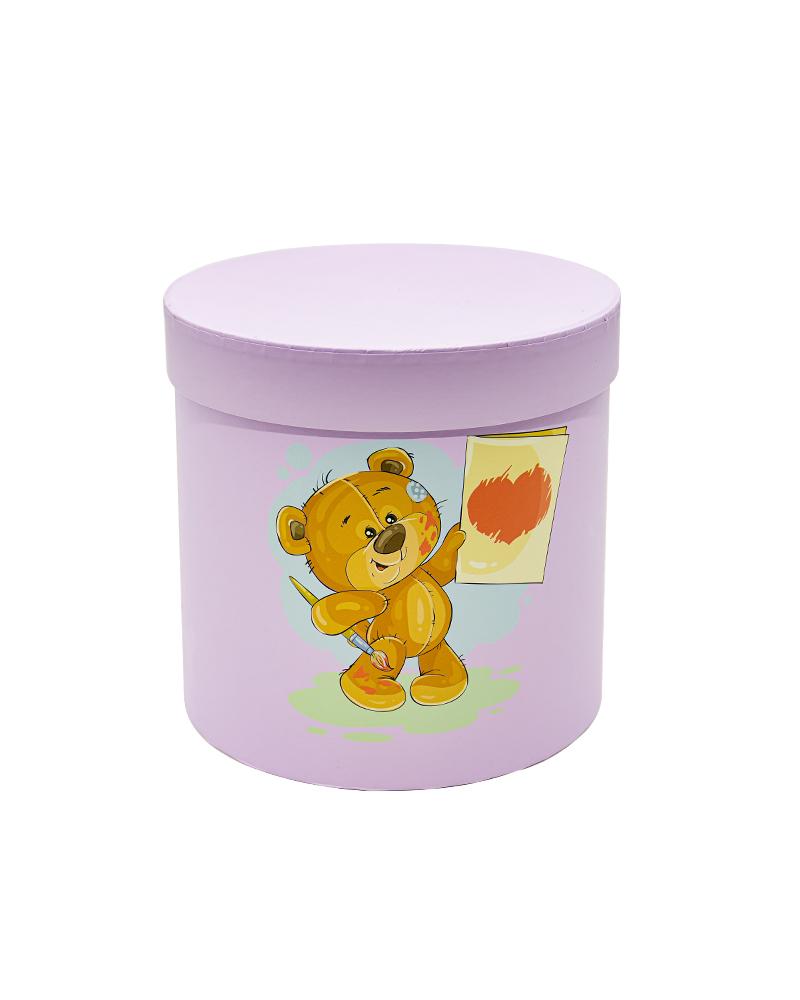 Коробка Цилиндр Сиреневый (Мини Мишки)
