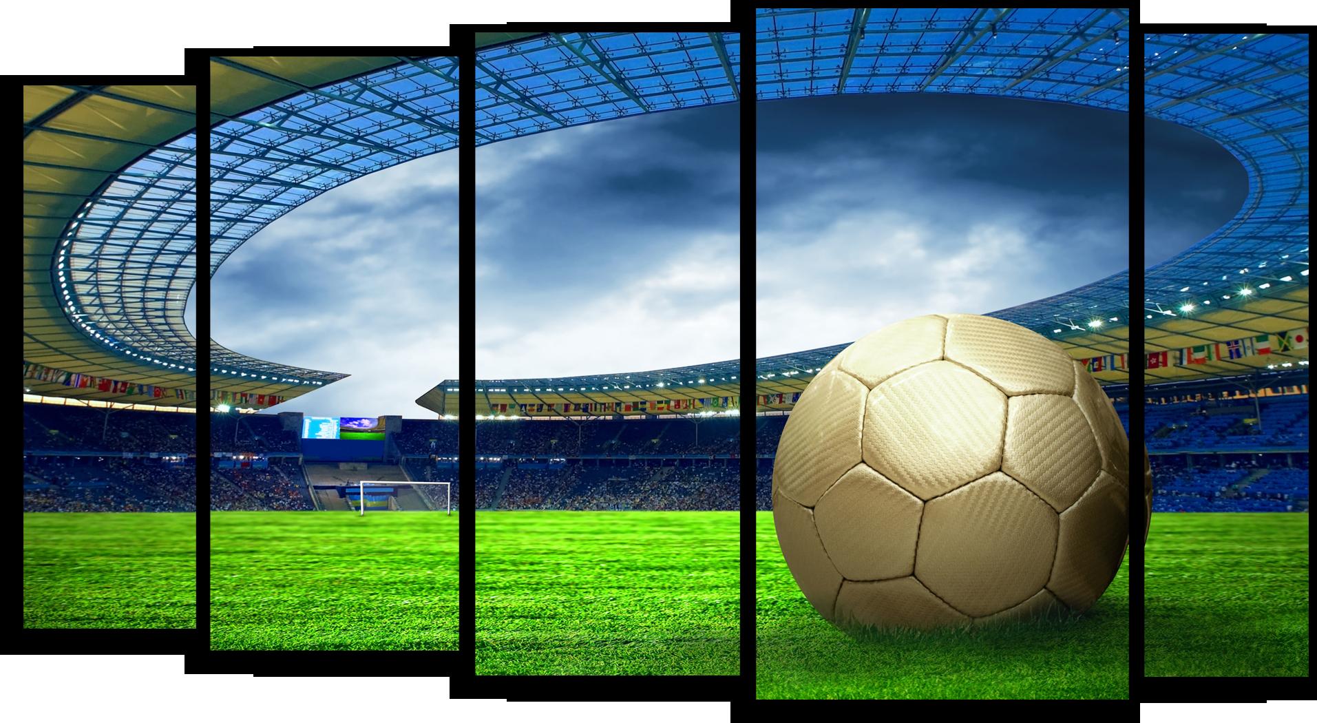 """Футбол Модульная картина """" Футбольный стадион """" М628.png"""