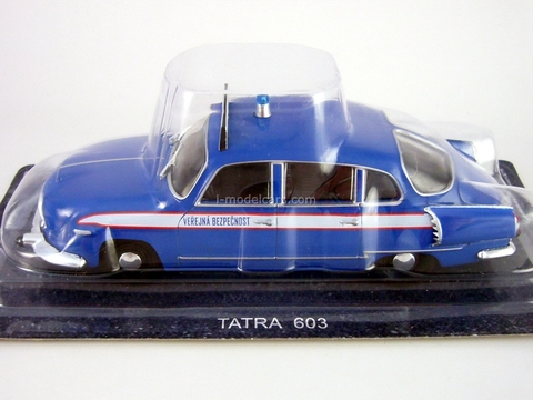 Tatra 603 Public safety Czechoslovakia 1:43 DeAgostini World's Police Car #57