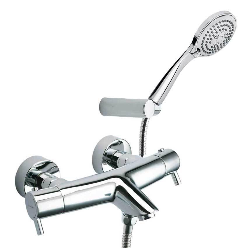 Смеситель термостатический для ванны с изливом и душевым комплектом DRAKO 3339T3