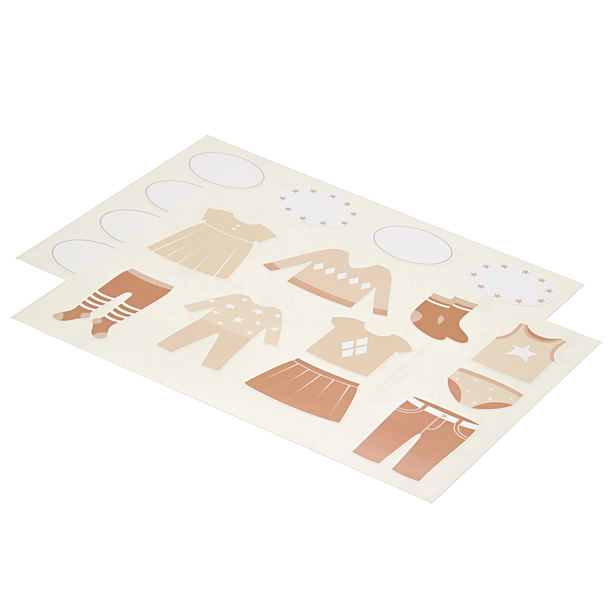 Комплект наклеек в детскую комнату 21×29,7 см, 2 листа, бежевый