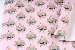 Бумага Глянец (И) Букет на розовом 70*100см 78г/м2 /5 шт./