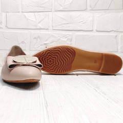 Женские балетки туфли на маленьком каблуке Wollen G192-878-322 Light Pink.