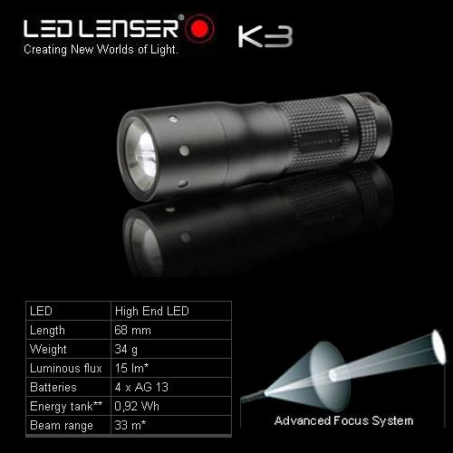 Светодиодный фонарь LED LENSER K3 (8313)