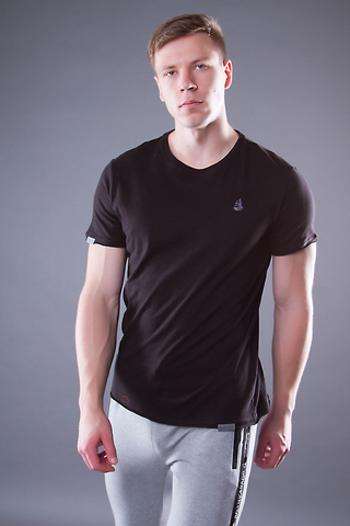 Men's T-shirt in black «VELIKOROSS»