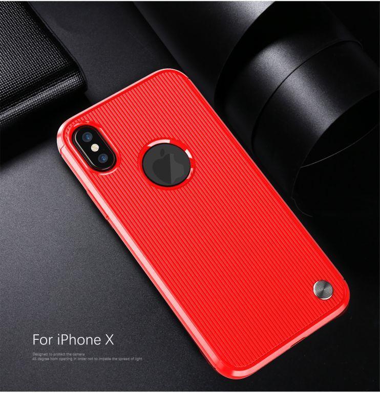 Чехол для iPhone X (XS) цвет Red (красный), серия Bevel от Caseport