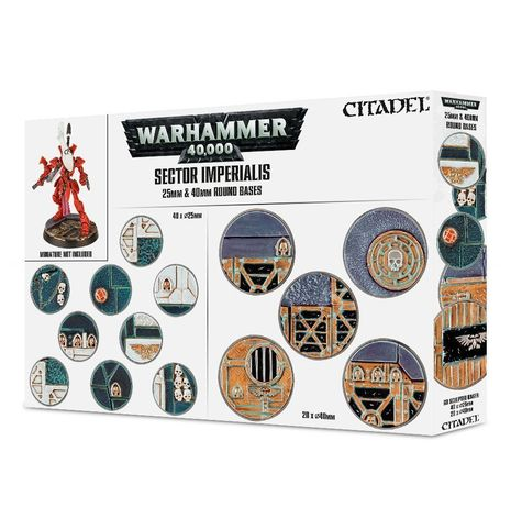 Sector Imperialis 25 & 40mm Round Bases (набор круглых баз)