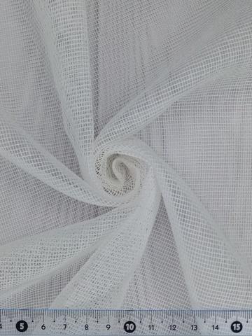 Тюль сетка-рогожка однотонная