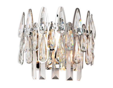 Настенный светильник с хрусталем TR5268/2 CH/CL хром/прозрачный E14/2 max 40W 240*230*140