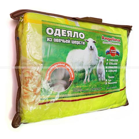Одеяло легкое овечья шерсть АП23-КП31