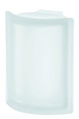 Угловой стеклоблок матовый бесцветный гладкий Vetroarredo Neutro ANGOLARE T SAT 19x4x15x8