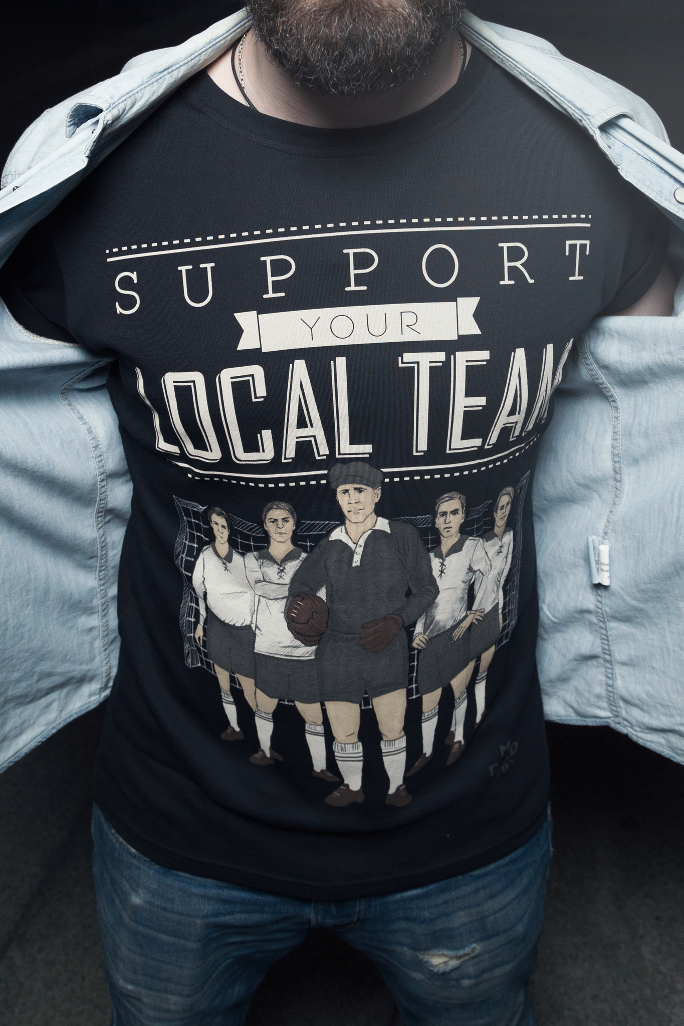Футболка Support your local team