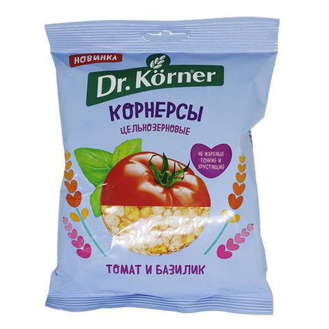 Dr. Korner Чипсы ц/з кукурузно-рисовые с томатом и базиликом 50 гр.