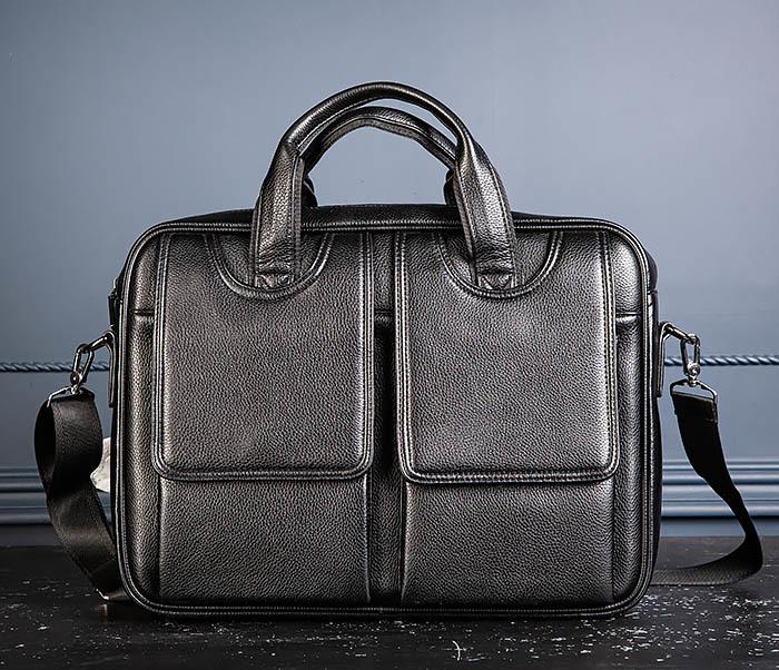 BAG536-1 Вместительный мужской портфель из кожи фото 03