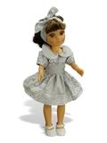 Платье хлопковое кружево принт - На кукле. Одежда для кукол, пупсов и мягких игрушек.