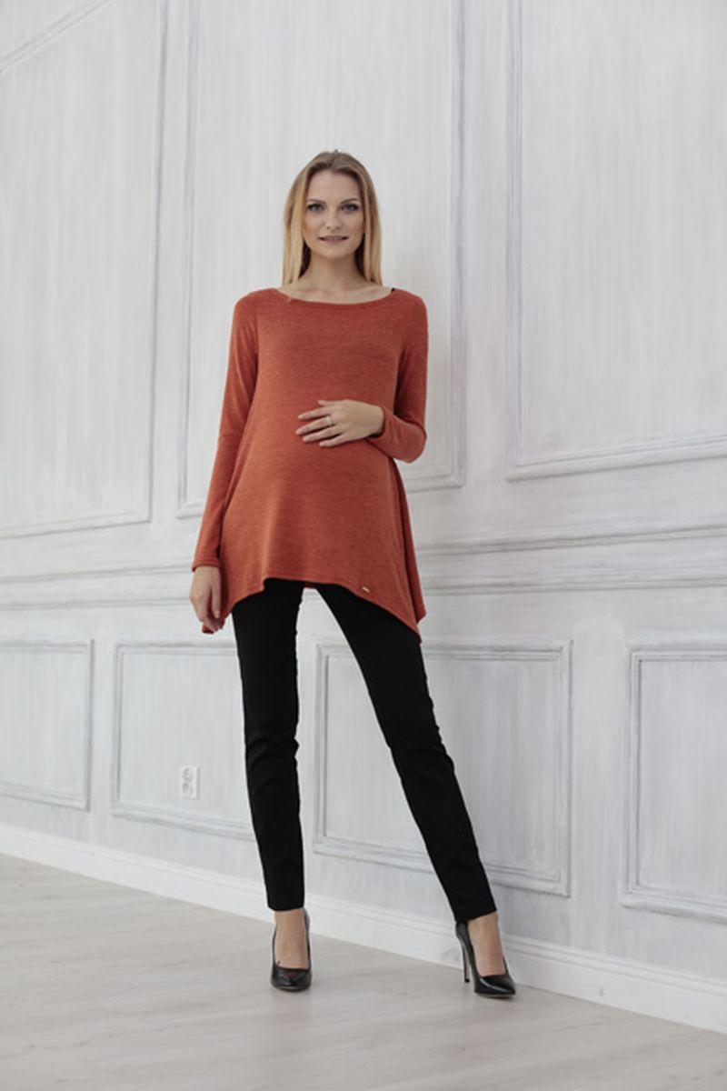 Туника для беременных 00063 оранжевый