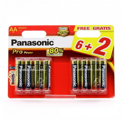 Батарейки Panasonic Pro Power LR6, AA (8/48) BL