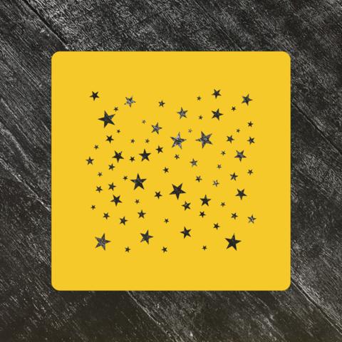 Трафарет-фон №12 Звездное небо