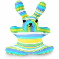 Подушка-игрушка антистресс Gekoko «Зая Полосатый зеленый» 2