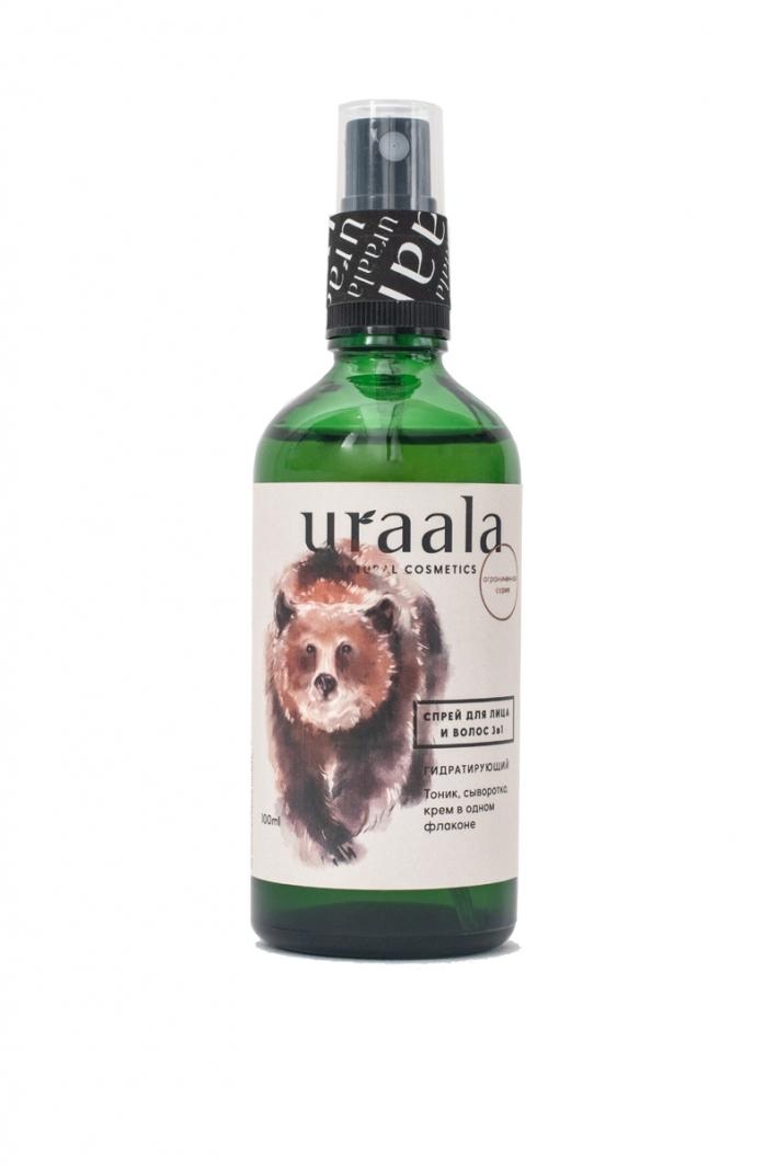 Гидратирующий спрей для лица и волос 3 в 1 Ura'ala, 30 мл