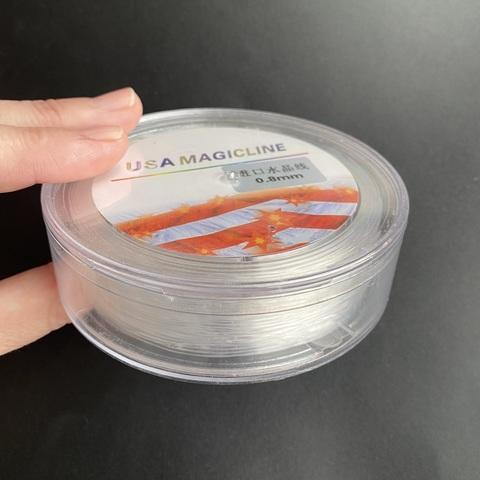 Спандекс прозрачный 0,8 мм силиконовая нить катушка 30 м США