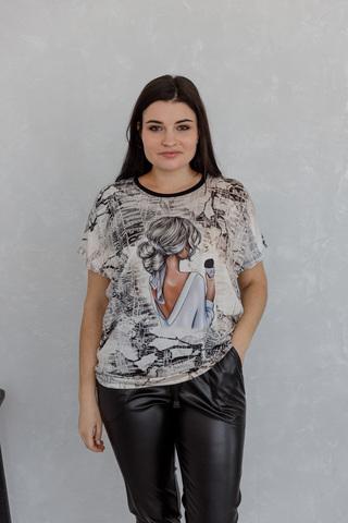 Блуза-футболка с камнями 04/30