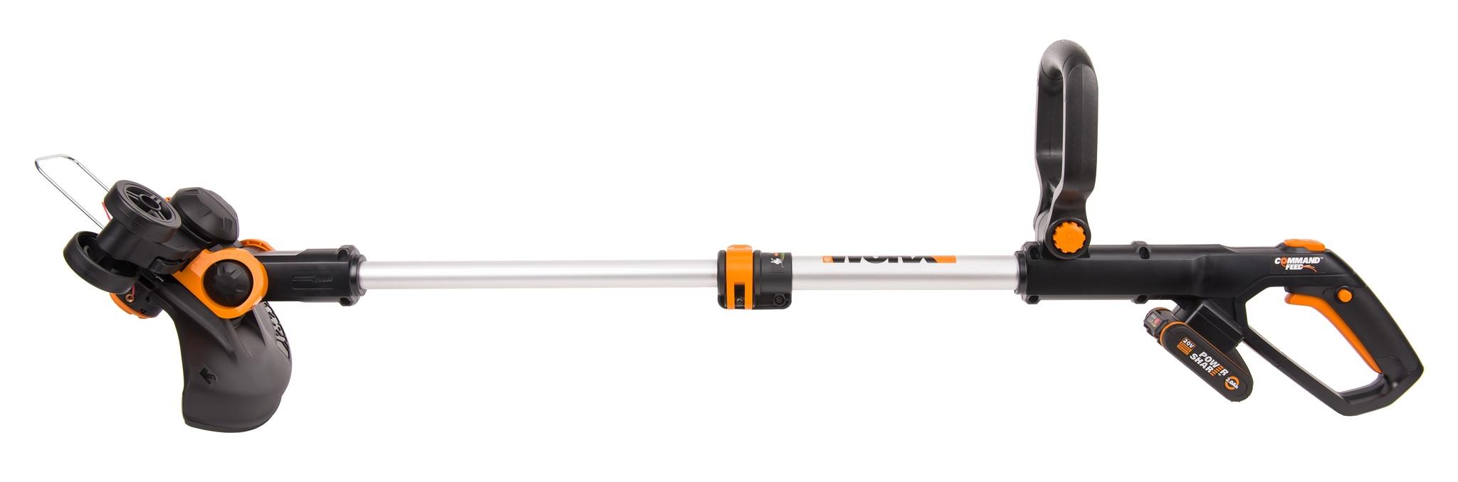 Триммер аккумуляторный WORX WP164E, 30 см, 20В, 2Ач х1, ЗУ 2А