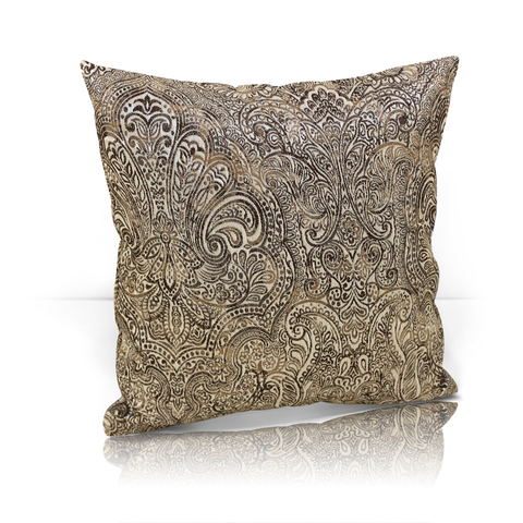 Подушка декоративная жаккард Франсика коричневый