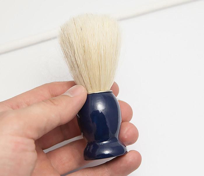 RAZ302-4 Помазок из щетины кабана с деревянной рукояткой синего цвета фото 04