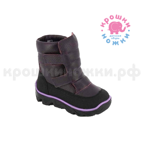 Зимние ботинки, цвет баклажан, Тотто