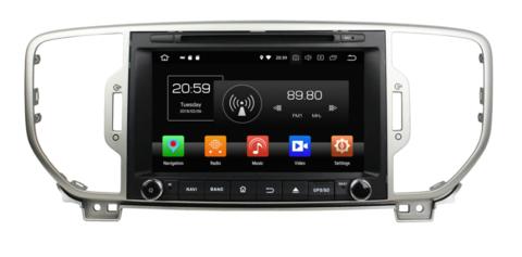 Магнитола Kia Sportage 2016-2018 Android 9.0 IPS DSP модель GF-8077 KD