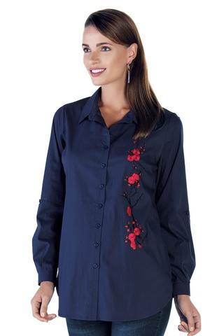Блузка для беременных 08946 синий