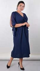 Алла. Вишукана сукня plus size. Синій.