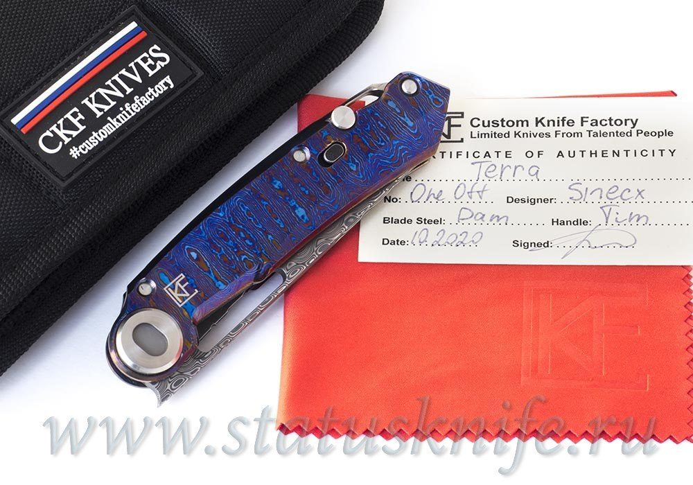 Нож CKF/Snecx 1 of 10 TERRA (Timascus+Damascus)
