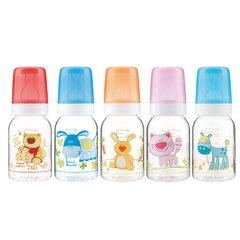 Canpol babies. Бутылочка Cheerful animals антиколиковая, тритановая, 3+, 120 мл