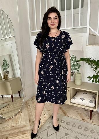 Сесіль. Романтична весняна сукня. Сині квіти